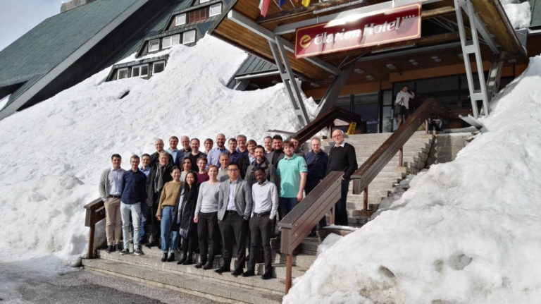Group photo of the participants of the GRK 2250/1 Winter Workshop 2019 in Spyndleruv Mlyn