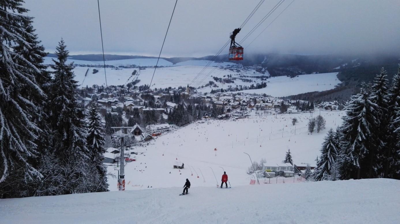 Ski track in Oberwiesenthal