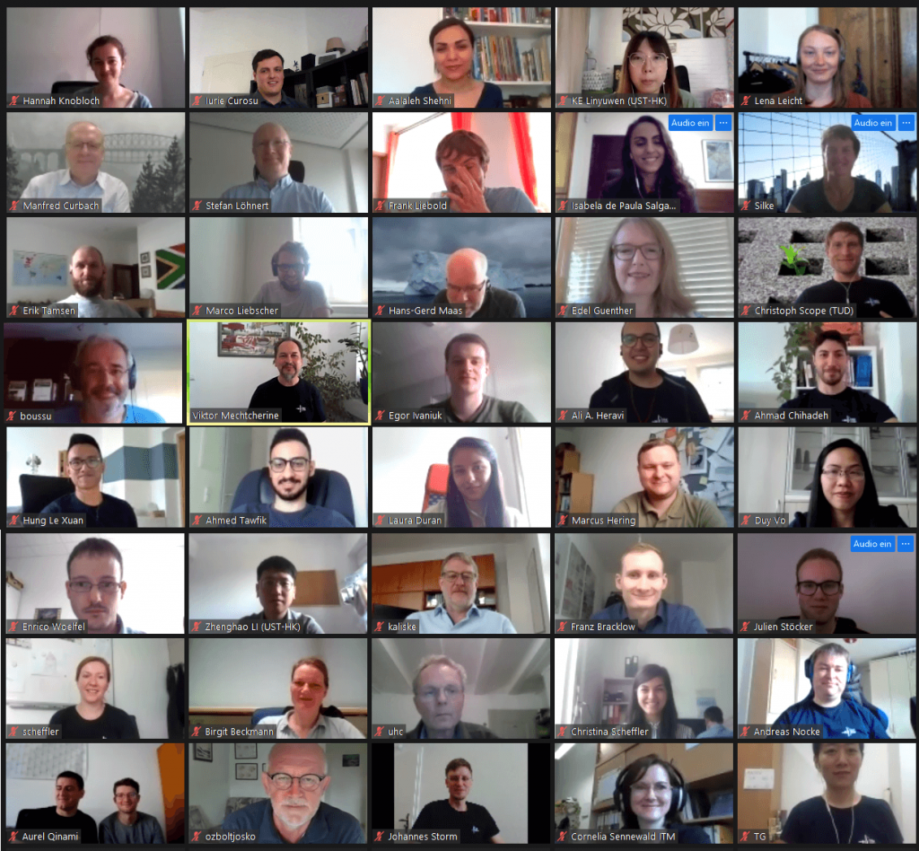 Collective photo of the participants of the GRK 2250 Summer School 2020 (snapshot of the Zoom session)