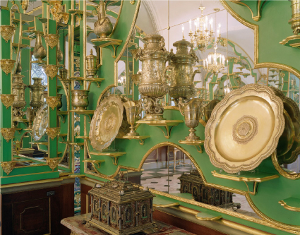 Historical and New Green Vault of Dresden