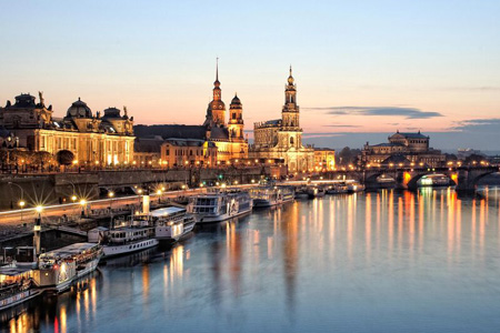 Silhouette of Dresden