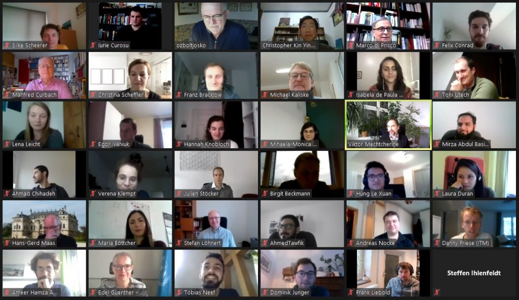 Collective photo of the participants of the GRK 2250-1 Winter Workshop 2021 (snapshot of the Zoom session)